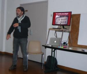Présentation du projet par Emmanuel Gosselin, habitant de la commune